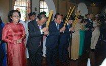 Lãnh đạo Thành phố Hồ Chí Minh dâng hương Chủ tịch Tôn Đức Thắng nhân dịp xuân Mậu Tuất 2018